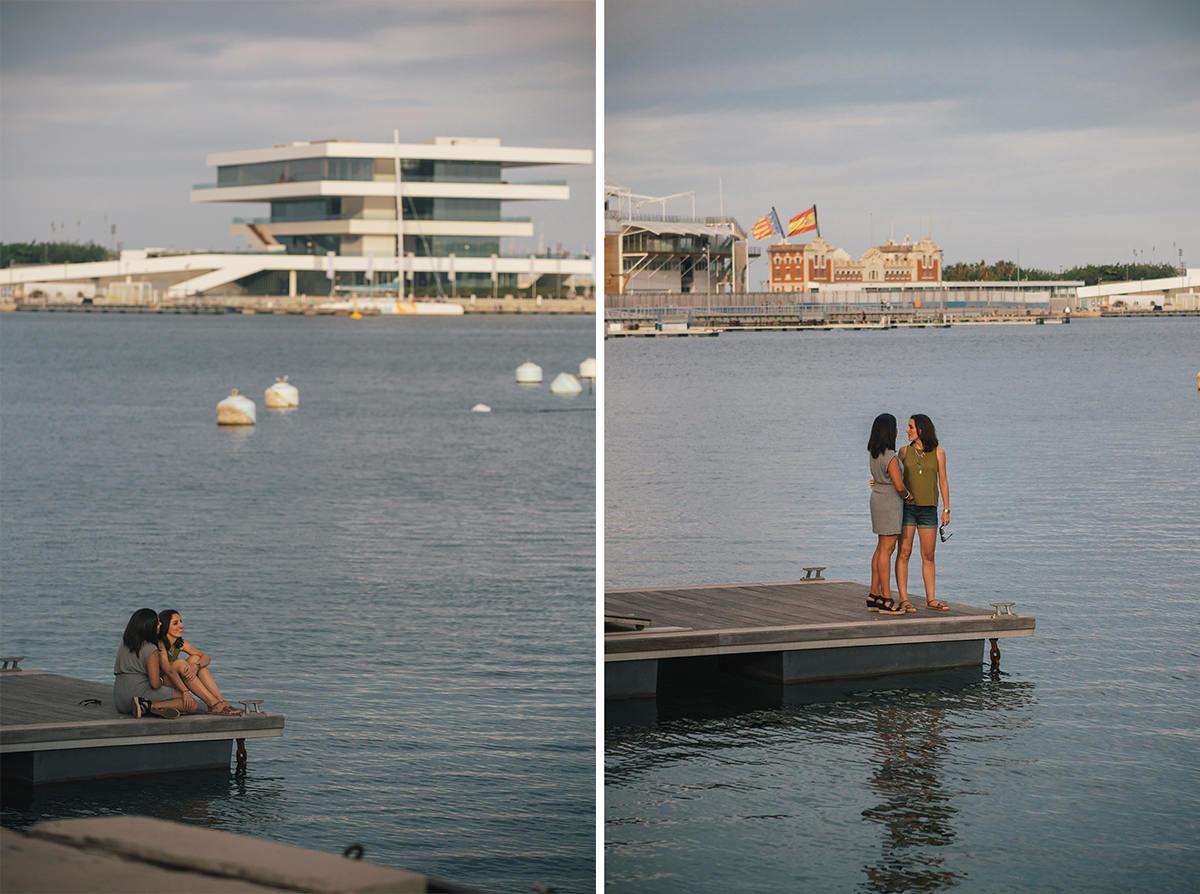 Andrea & Annette couple photographs in Valencia